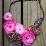 Silk Flower Necklace Tutorials Handmade Necklaces
