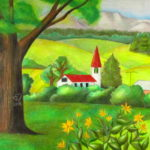 Color Pencil Landscape Drawing Learn To Draw