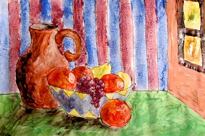 Finger Painting Art Lesson
