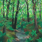 How To Paint A Forest In Acrylic Paint Art Lessons