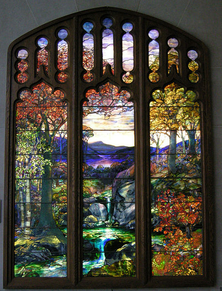 Tiffany stained glass art lesson for Art glass windows