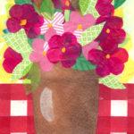 Tissue Paper Collage Art