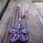 Bead And Wire Cherry Blossom Necklace Instructions Happy Family Art DIY Jewelry