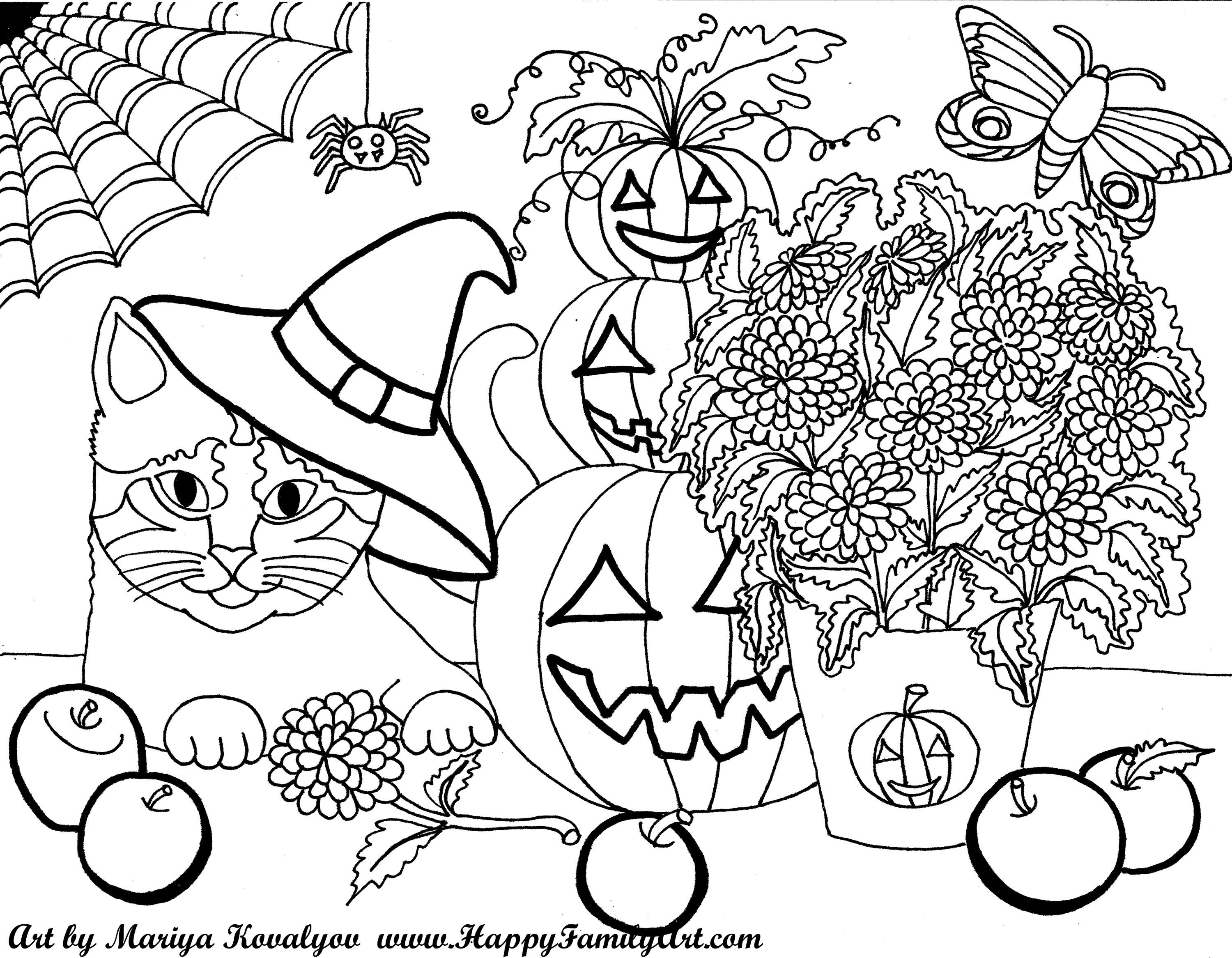 Halloween for Halloween coloring pages for adults printables