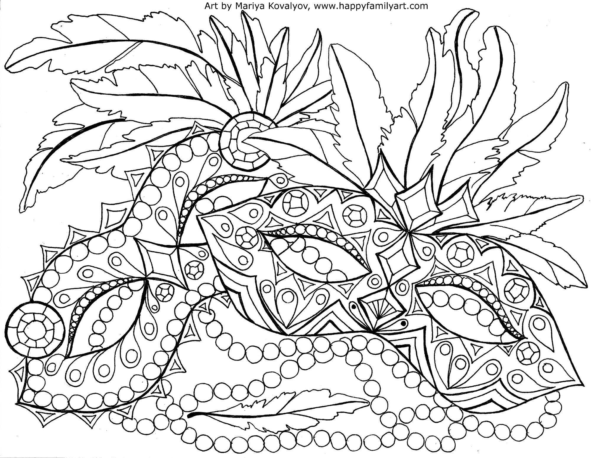 coloring pages mardi gras - photo#7