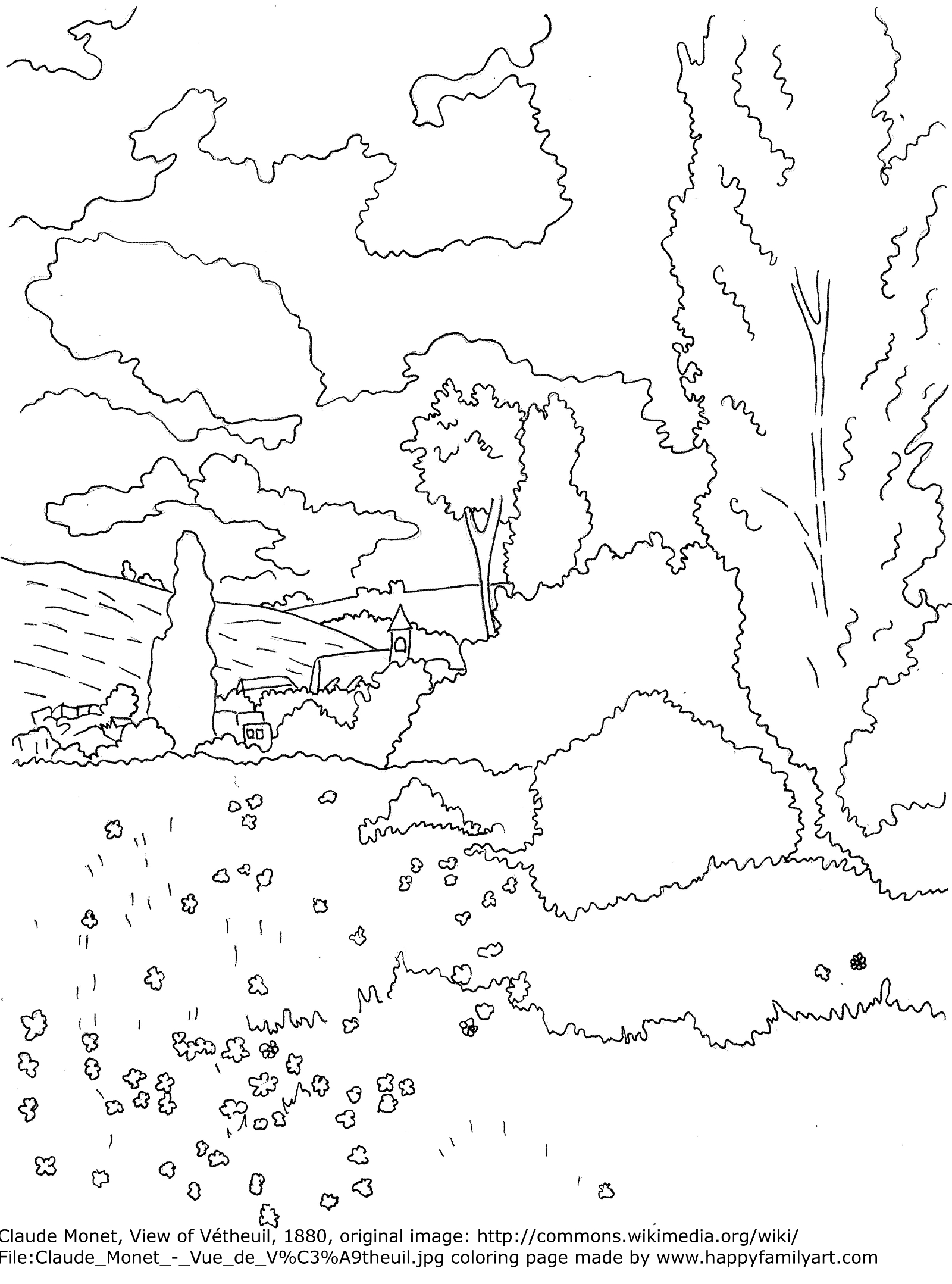 Monetmedium Coloring Pages Of Paintings