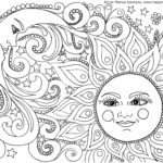 Sun And Moon Coloring Pages Art Lessons