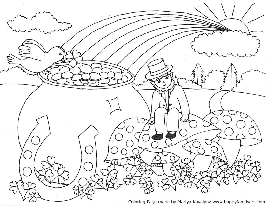 Stpatriksmedium for Free st patrick s day printable coloring pages