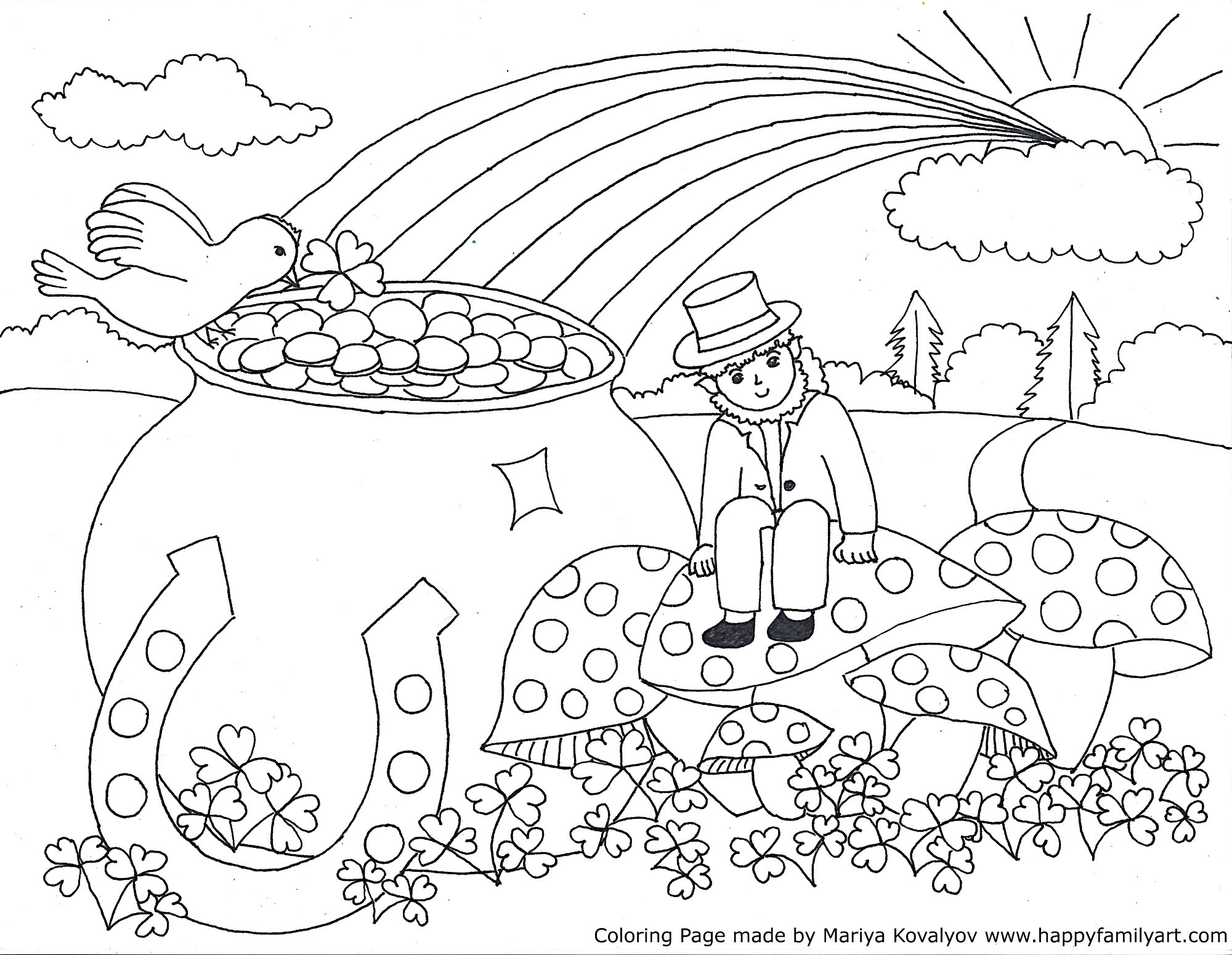 st patricks day coloring pages - St Patricks Day Coloring Pages