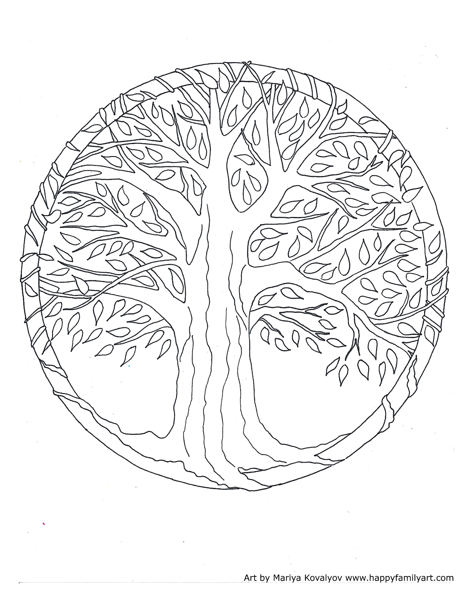 Free Coloring Pages Of Fig Tree Easy