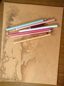 How to draw a face in colored pencil how to color in a face