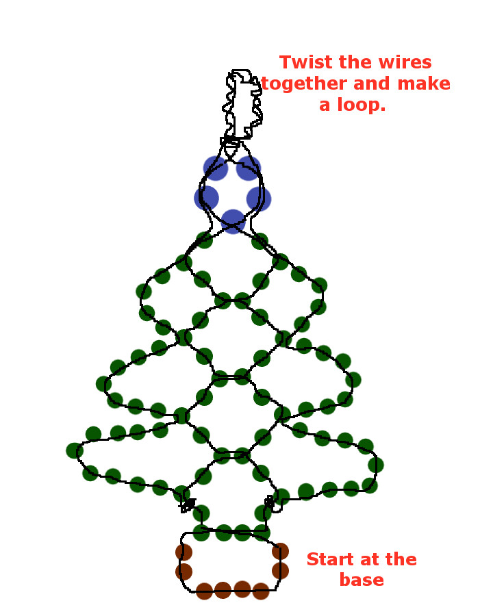 Easy Beaded Christmas Tree Earrings  - Make Christmas Tree Earrings