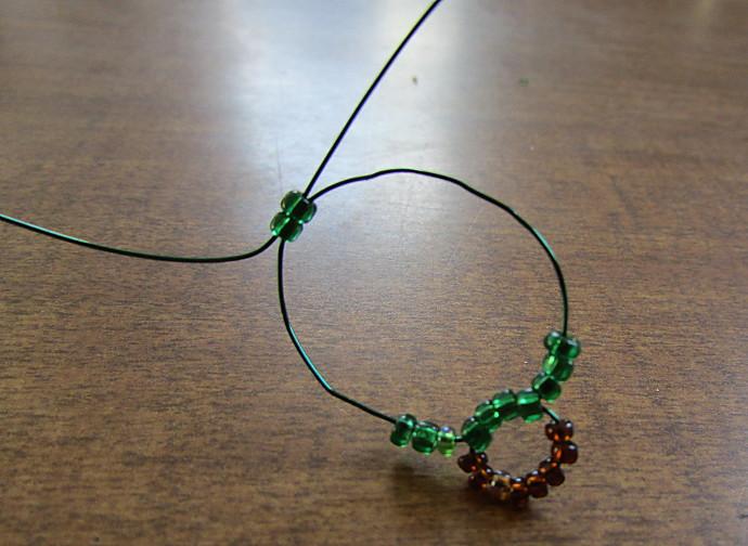 Easy Beaded Christmas Tree Earrings