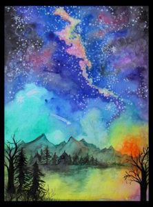 fun watercolor galaxy and space paintings - Fun Pictures To Paint
