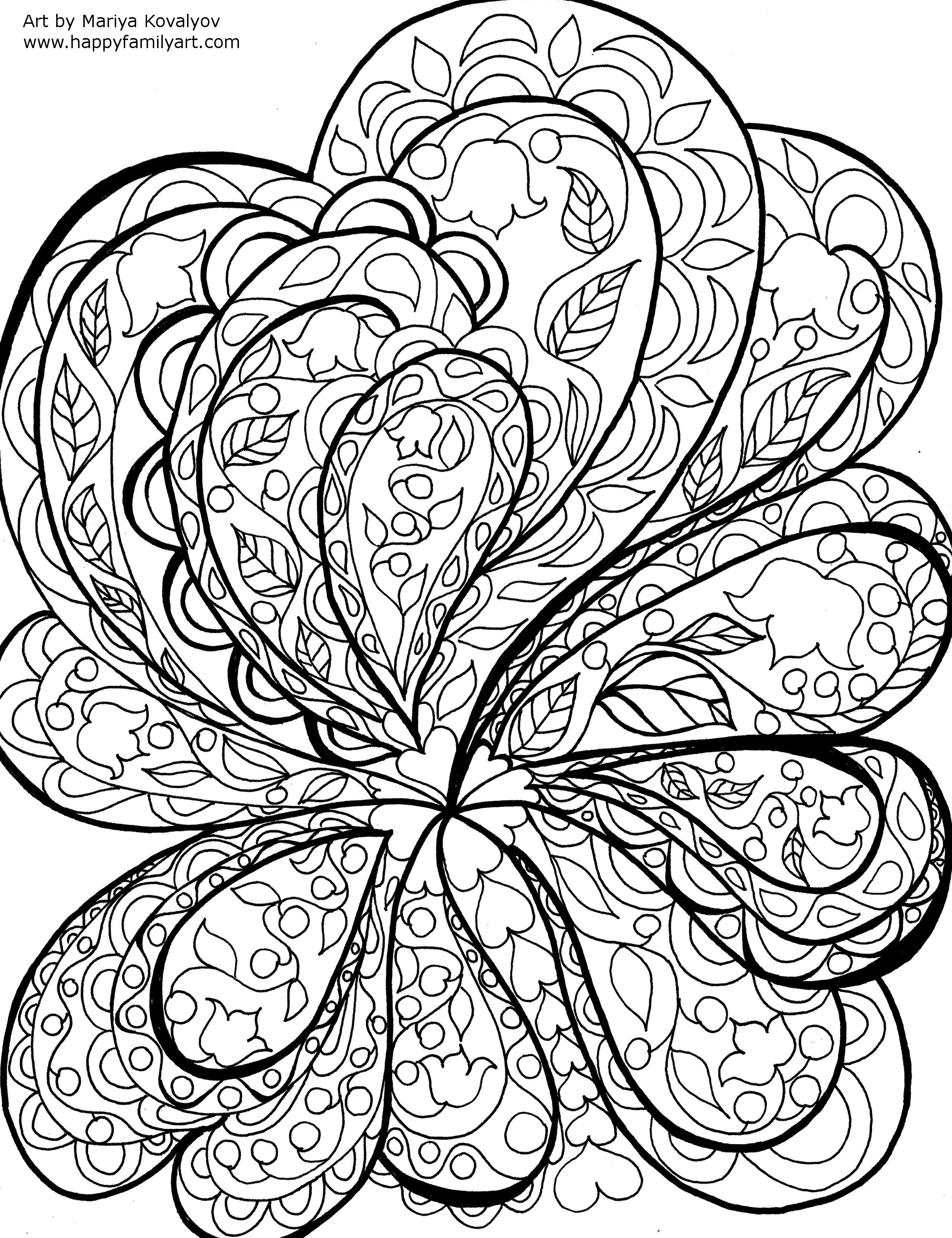 Abstract Star Coloring Pages For Adults