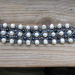 Beaded Black And White Pearl Bracelet Handmade Bracelets