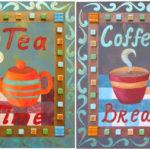 Coffee and Tea Acrylic Painting