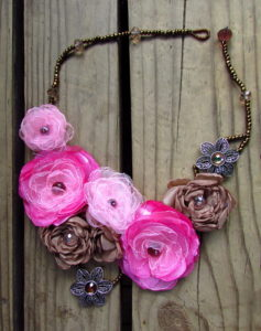 Silk Flower Necklace Tutorials