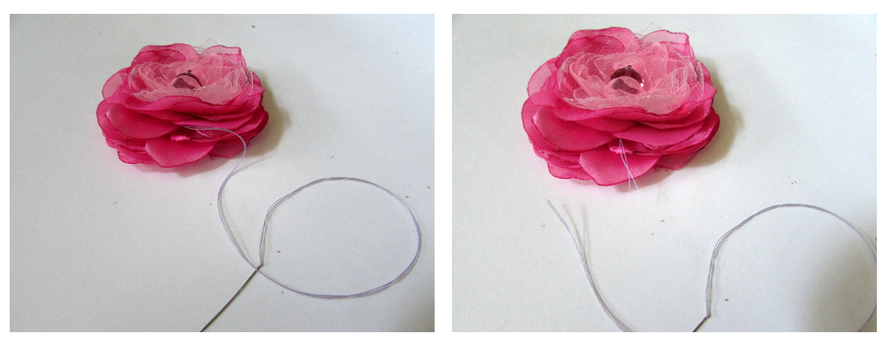 Silk Flower Necklace Tutorial