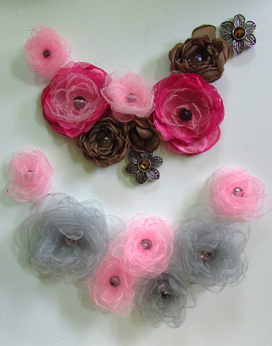 Silk Flower Necklace Tutorial -