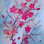 Cherry Blossom Watercolor Painting Art Lessons