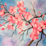 Cherry Blossom Watercolor Painting Watercolor Art Lessons