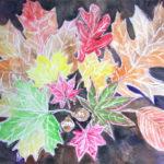 Crayon Resist Fall Leaves Art Lesson