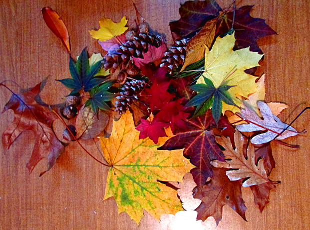 Crayon Resist Fall Leaves Art Lesson -