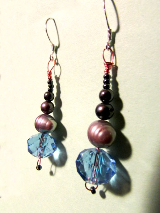 Simple Beaded Earrings Tutorial