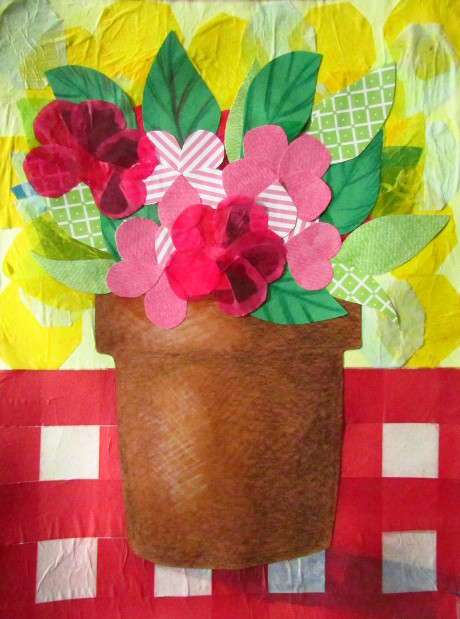 Flower pot out of construction paper best image of flower mojoimage flower pot out of construction paper best image mojoimage co mightylinksfo