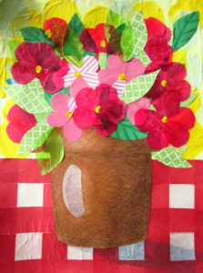 Tissue Paper Collage Art