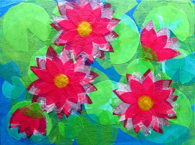 Tissue Paper Collage Art Lessons