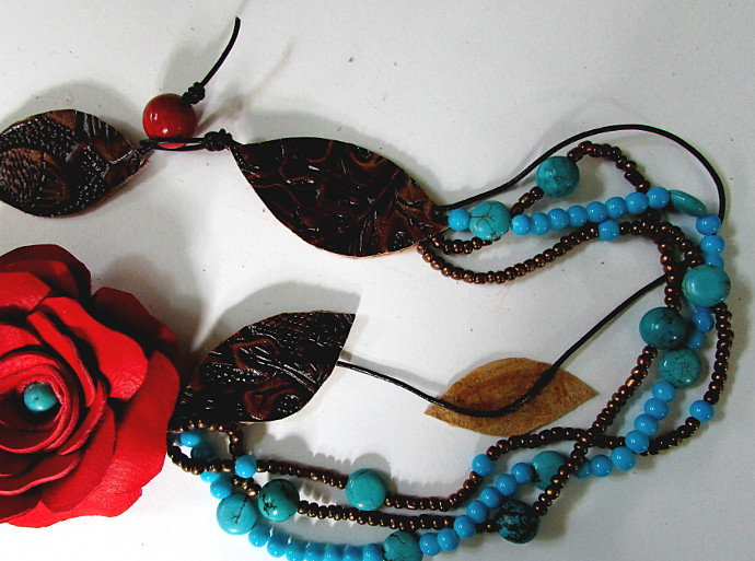 Leather Rose Necklace How to make a leather rose