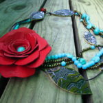 Leather Rose Necklace How to make a leather rose Necklaces