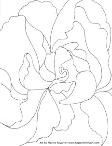 Coloring Pages Georgia O'Keeffe Inspired Flower Rose
