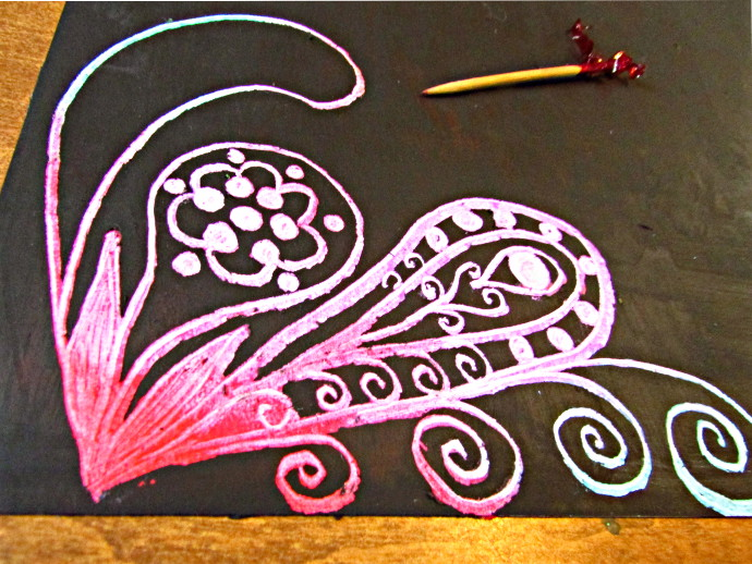 How To Make Scratch Paper Art