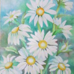 Painting Daisies Using Negative Watercolor Painting Watercolor Art Lessons