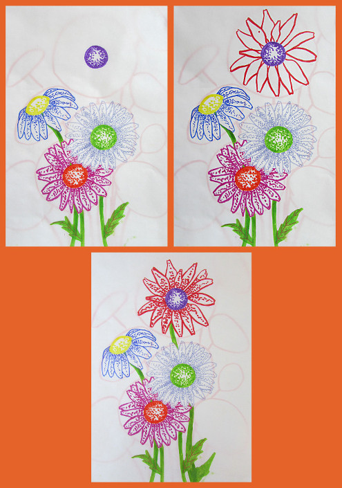 Painting Daisies Using Negative Watercolor Painting