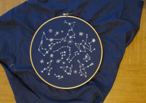 Embroidery Hoop Star Map