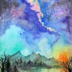 Fun Watercolor Galaxy and Space Paintings Watercolor Art Lessons