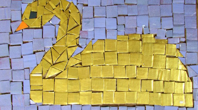 Recycled Mosaic Tiles Art Lesson