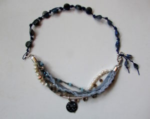Multi-Strand Leather Necklace and Bracelet
