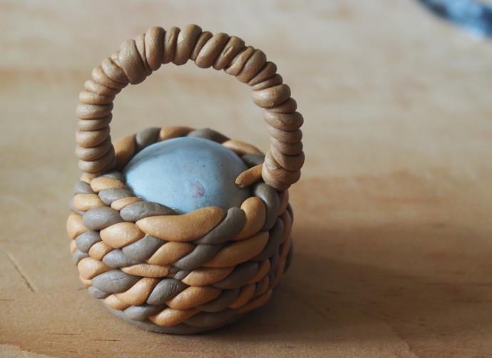 Clay Fairy Garden Creations Basket