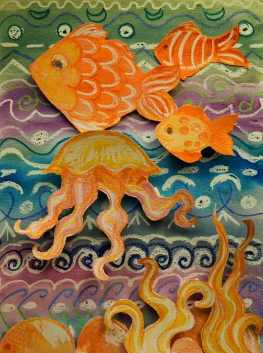 3D Watercolor Fish