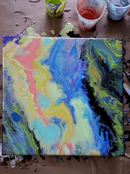 Painting with Liquitex Pouring Medium