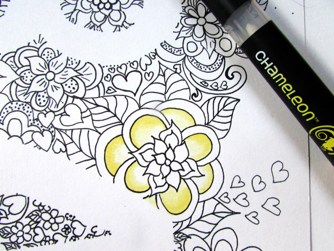 Negative Space Drawing Coloring Page