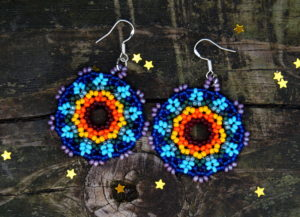 Rainbow Beaded Earrings