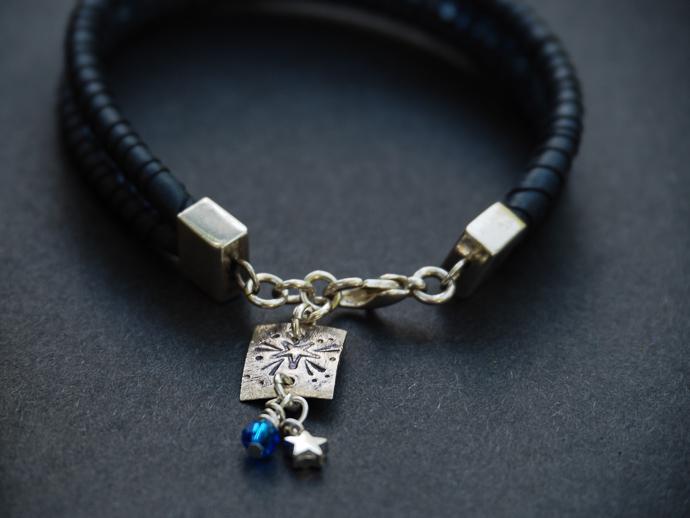 dainty leather bracelet