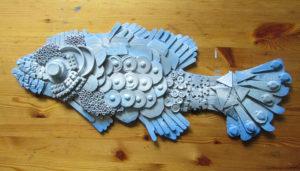 2D Recycled Materials Art Sculpture